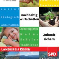 Aktueller Flyer vom SPD-Unterbezirk Regen